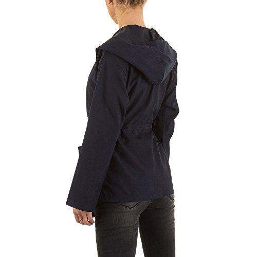 Ital-Design - Blouson - Femme Bleu foncé