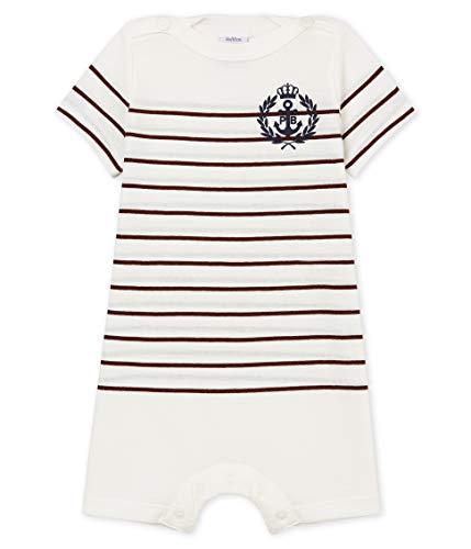 Petit Bateau Baby - Jungen Spieler combicourt_4739601, Mehrfarbig (Marshmallow/Vino 01), 68 (Herstellergröße: 6M/67cm)