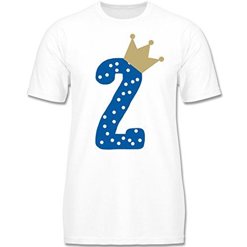 Geburtstag Kind - 2. Geburtstag Krone Junge - 98-104 (3-4 Jahre) - Weiß - F140K - Jungen T-Shirt