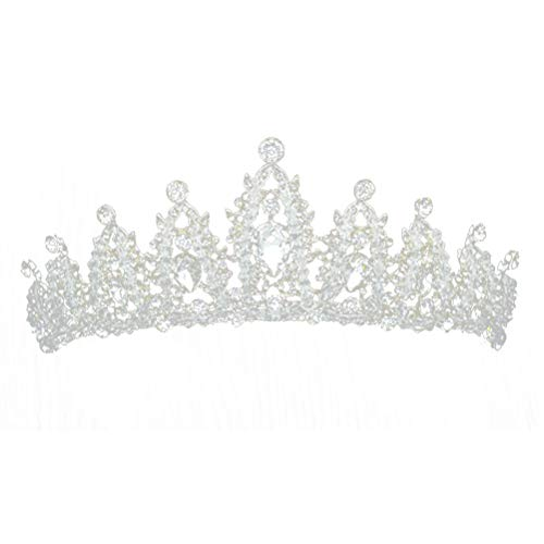 Bridal Tiaras Hairband Crystal Beads Wedding Headpiece Princess Pageant Crown Bridal Hair Accessories