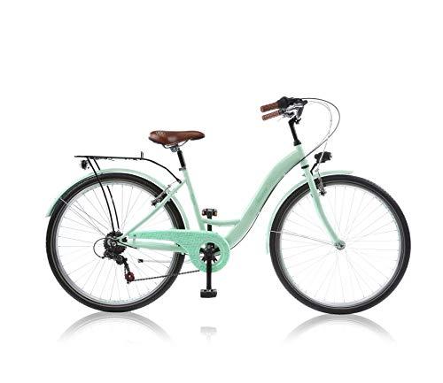 "Frank Bikes 20 20\"" Zoll Kinderfahrrad Cityfahrrad Mädchenfahrrad Kinder City Bike Fahrrad CITYBIKE Amazone GRÜN"