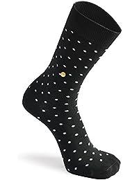 The Moja Club Socks For Men - Premium Polka Dot Black Socks