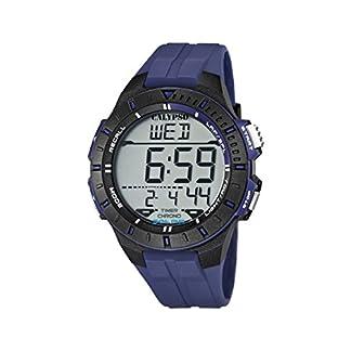 Calypso K5607/2 – Reloj de caballero de cuarzo, correa de caucho color azul