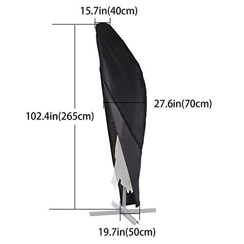 Xiliy Abdeckung Sonnenschirm Terrassenschirm Schutzhülle Abdeckung Sonnenschirm Möbelschutzhüllen Schutzhüllen Möbelsets Premium Qualität 265x50x70x40cm