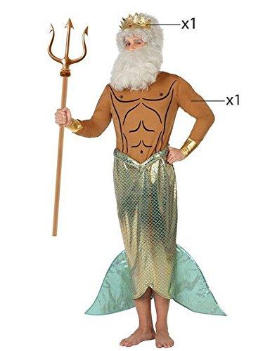 Atosa 26673 - Neptun, Herrenkostüm, Größe 50/52, (Kostüm Poseidon)