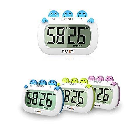 xingsheng Digital Kitchen Timer mit Premium Magnetic Backing für Kochen, Backen und mehr (Loud Alarm, Countdown)