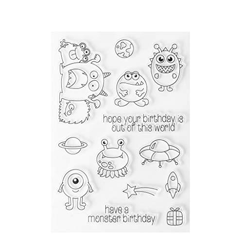 ilikon Siegel Blatt GeburtstagsWunsch DIY Scrapbook Craft Card Album S39 ()