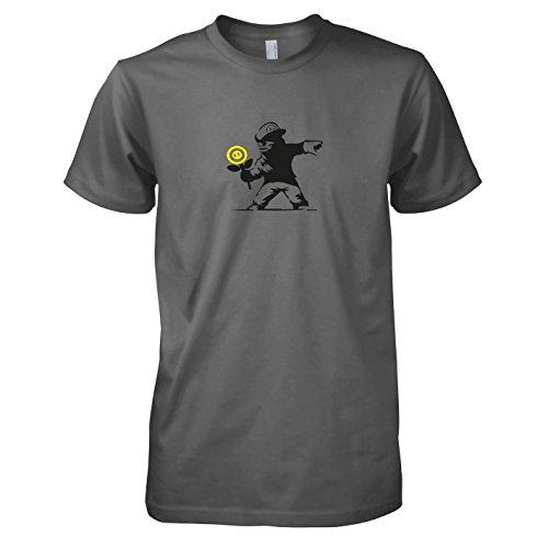 TEXLAB - Banksy Mario - Herren T-Shirt, Größe M, (Bro Kostüm Mario Girl)