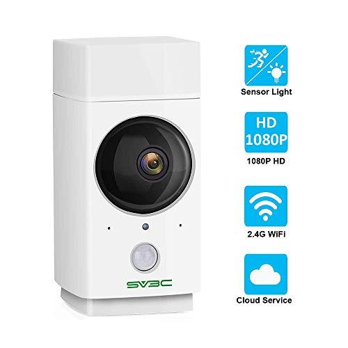SV3C 1080P WLAN IP Kamera, HD WiFi Überwachungskamera mit Deutscher Anleitung,Bewegungserkennung,10M Nachtsichtfunktion,64G SD Karten,2-Wege-Audio,Kompatibel mit IOS/Android/Tablets/Windows PC