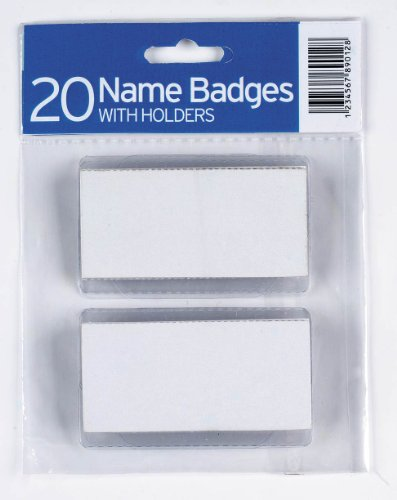 20 Name Badges with Holders