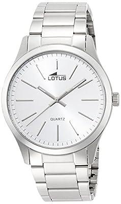 Lotus 15959/1 - Reloj de cuarzo para hombre, con correa de acero inoxidable, color plateado de Lotus