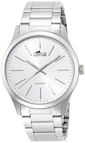 Lotus 15959/1 - Reloj de cuarzo para hombre, con correa de acero inoxidable, color plateado
