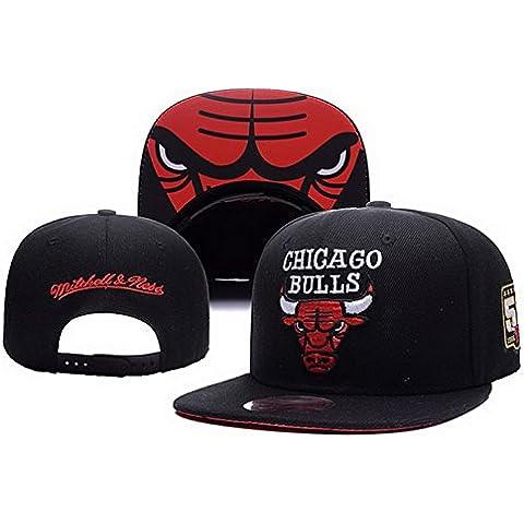 Béisbol Chicago Bulls Gorra negro- Sr./Sra personalizado logotipo Snapback sombreros casquillo