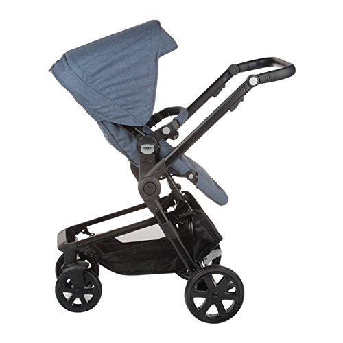Nurse City 3 Piezas - Sistema modular de silla de paseo y capazo, color soft denim mix