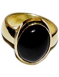 55Karat Genuine Schwarz Onyx Legierung Ring für Männer panchdhatu 8Karat Astrologische Größe UK-Z