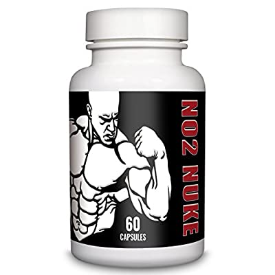 NO2 NUKE Advanced Muscle Gain Formula Extreme Gym Supplement 60 Capsules from NO2 NUKE