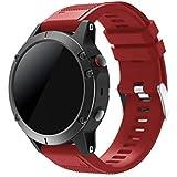 SUPORE Garmin Fenix 5 Sportuhr Armband - Quick Fit Weiches Silikon Sportarmband Uhr Band Strap Ersatzarmband Uhrenarmband Garmin Fenix 5 Smartwatch GPS-Multisportuhr
