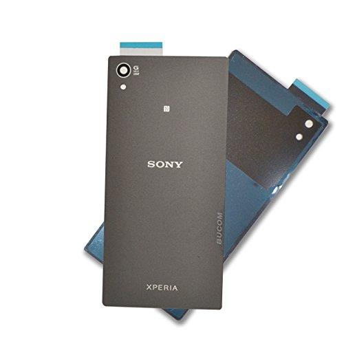 Sony Xperia Z5 Akkudeckel Rückseite Rückschale Back Cover Rückwand schwarz grafit Selbstklebend
