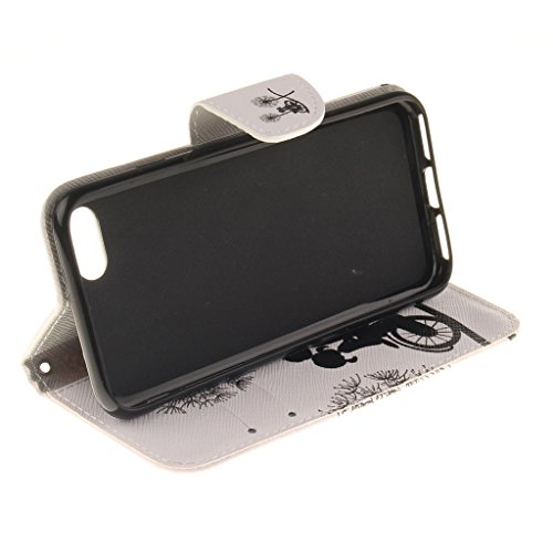 CareyNoce Apple iphone 7 Plus Coque,Flip Housse Etui Cuir PU Coque pour Apple iPhone 7 Plus (5.5 pouces) -- Léopard #1 T17