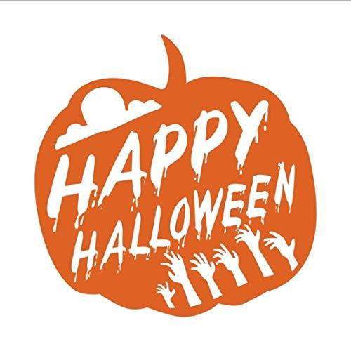 Happy Halloween Kürbis Wandtattoos Für Kinderzimmer Halloween Dekoration Hallowmas Festival Wandaufkleber Shop Glaswanddekor 59 * 59 cm