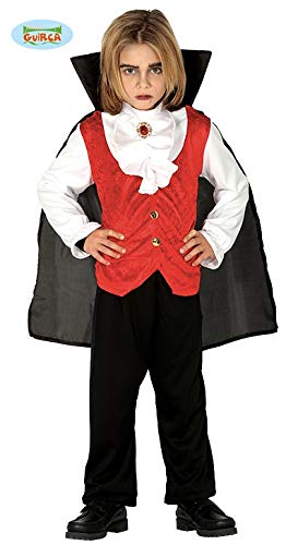 Guirca Vampir Kostüm Halloween Kostüm für Kinder Gr. 98-146, - Junior Vampir Kostüm