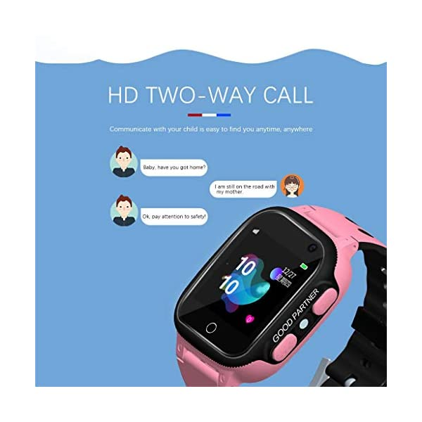 BOBOLover Smartwatch Niños, Reloj Inteligente para Niños Impermeable ip67 con LBS, Hacer Llamadas, Chat de Voz, SOS… 5
