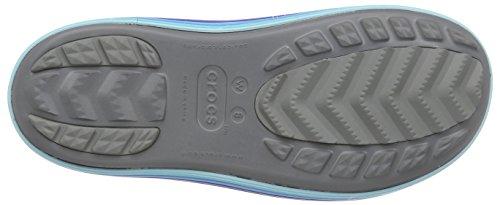 Crocs Jaunt Graphic Shorty, Bottes - Femme Gris (Smoke/Cerulean Blue)