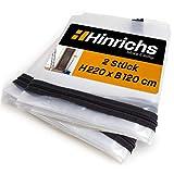 Hinrichs 2 x Staubschutztüren mit Reißverschluss - Staubschutztür Transparent - 220x120 cm große Bautür - Für Renovierung Umbau Sanierung