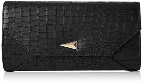 SwankySwans Damen Bruni Croc PU Leather Clutch Bag Black Tasche, Schwarz (Schwarz), One Size (Handtasche Croc Clutch)