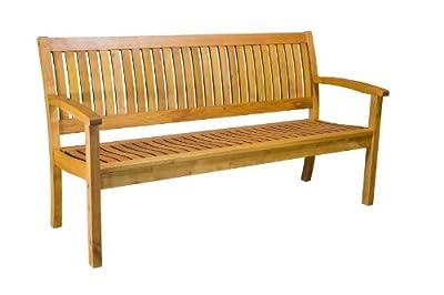 Bank Padua 3-Sitzer, Robinie braun lasiert, teilmontiert