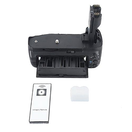 DSTE - Empuñadura para batería de repuesto BG-E7 para cámara Canon EOS 7D (incluye mando a distancia inalámbrico)