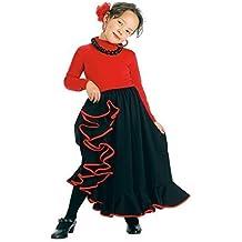 Creaciones Llopis Falda Rociera Infantil Negra T-1 (3-5 Años),