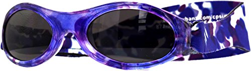 Banz 01593 Sonnenbrille Baby mit elastischem Neoprenband, für Kopfumfang 40-52 cm (circa bis 2 jahre), UV400, violett