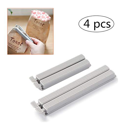 KANKOO Graue Lebensmittelclip-Plastikclip-Dichtungsclips Foodclips für Küchenlebensmittel und Snacks-Taschen
