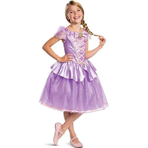 Kostüm Prinzessin Leia Kleinkind - DXYQT Cosplay kostüme mädchen Prinzessin Dress kostüme Dress up kostüm Halloween kostüme Party World Book Day kostüme bühnenauftritt,Purple-M