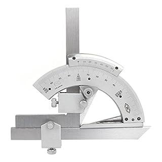Vzer 0-320° Universal Stainless Steel Vernier Bevel Protractor, Precision Angle Measuring Finder Ruler Tool