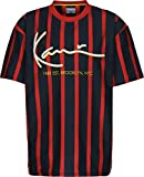 Karl Kani Signature Pinstripe T-Shirt Navy/red