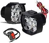Auto Hub Shilon 9LED 16W Anti-Fog Spot Light Auxiliary Headlight with Switch