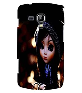 PrintDhaba Cute Doll D-1044 Back Case Cover for SAMSUNG GALAXY S DUOS S7562 (Multi-Coloured)