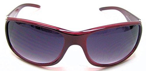 VOX féminines polarisés des lunettes de Designer de mode lunettes de soleil Rouge - Red Frame - Smoke Lens