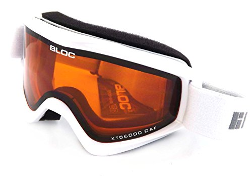 Bloc Goggles RK11 Weiß Spark Visor Goggles Lens Category 2