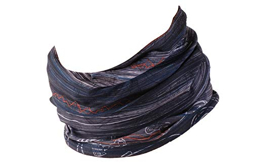 Hilltop multiuso fascia bandana scaldacollo foulard - datechip 12 in 1 sports buff scaldacollo, face shield, fascia capelli, balaclava, scaldacollo moto, donne, uomo, bambini,motorcycle