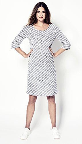 Love2Wait - Robe spécial grossesse - Trapèze - Uni - Manches 3/4 - Femme Blanc Cassé