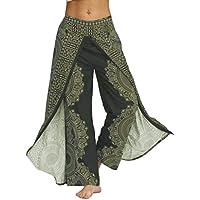 2019 Pantalones Mujer Verano Casual Suelta Yoga Holgado Boho Mono