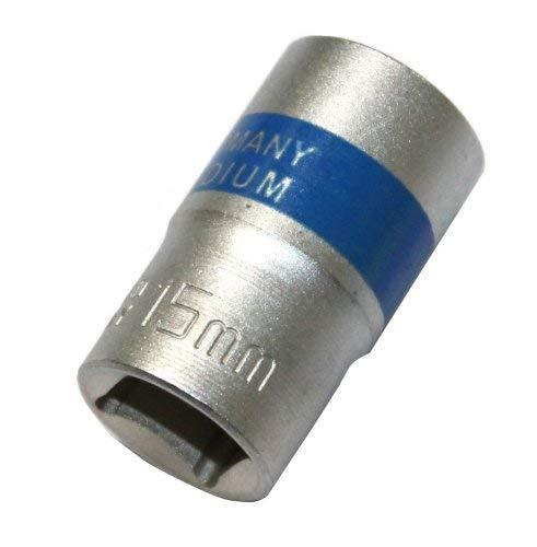 Aerzetix: Steckschlüssel Sechskant Nuss 1/2 Vierkant 15 mm