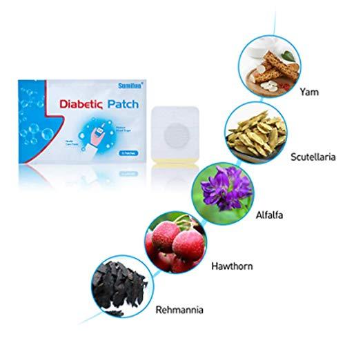 6Pcs Diabetes Pflaster, Halten den Blutzuckerhaushalt rein Natürlich Kräuter - Health Care Produkt, Behandeln Lokalisierte Diabetiker -