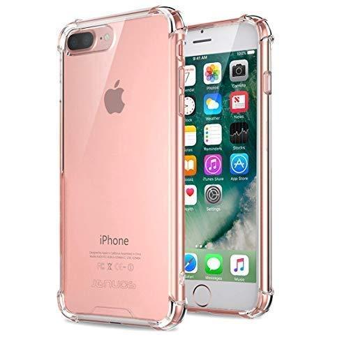 c254d013f30 iPhone 8 Plus Case, iPhone 7 Plus Case, Jenuos Clear Soft TPU Shockproof  Bumper