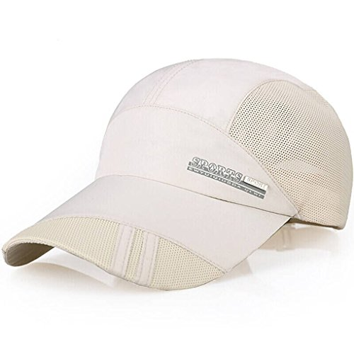 Unisex Mesh Baseball Cap Trucker Cap schnelltrocknende Summer Hut Baseball Kappe Mütze Caps Atmungsaktiv Basecap Verstellbar Sonnenschutz Hut für Sport und Freizeit,BEIGE (Kappe Baseball Leder)