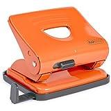 Rapesco 825 2-Hole Paper Punching Machine (Orange)