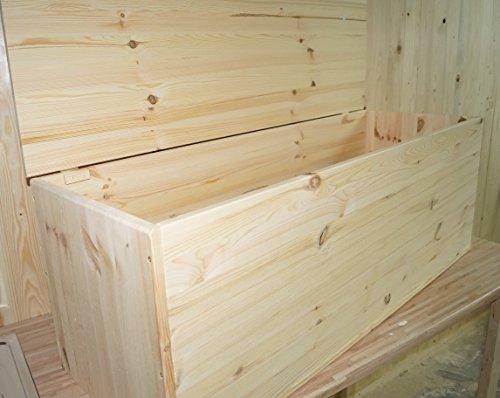 Massivholz Spielzeugkiste Truhe (Massivholz Multibox Gartentruhe Gartenbox Wäschetruhe Spielzeugbox Box Made in Germany KÄPPEL-Germany)